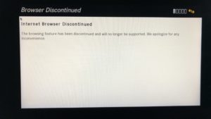 Discontinued browser